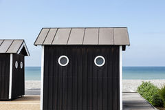 Beach shed in Normandy Stock Images