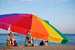 Beach shelter Royalty Free Stock Images