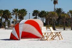 Beach shelter Stock Image