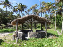 A beach shelter at spring bay on bequia. Stock Image