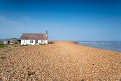 Shingle Street in Suffolk. The beach at Shingle Street on the Suffolk coast stock photography
