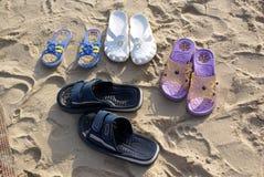 Beach shoes Royalty Free Stock Photos