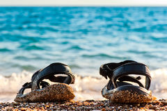Beach shoes   Royalty Free Stock Image