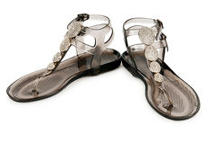 Free Beach Shoes  On The White Royalty Free Stock Photography - 20880937