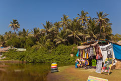 Beach shop, Morjim Royalty Free Stock Photography