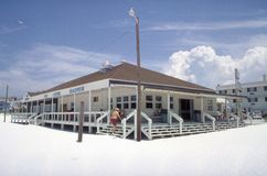 Beach shop with people. At Clearwater, Florida Royalty Free Stock Photography