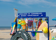 Beach shop with swim articles Royalty Free Stock Photography