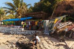 Beach shop, Vagator Royalty Free Stock Image