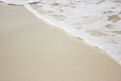 Beach shore. Beautiful beach shore (waves on a sand beach Stock Images