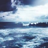 Beach Shore Coastline Storm Wave Concept Royalty Free Stock Images