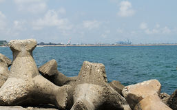 Beach shore Reinforcement Royalty Free Stock Image