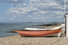 Beach by Shoreham Port. Sussex. UK Royalty Free Stock Images