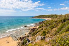Beach and shoreline in Agnes Water, Queensland royalty free stock images