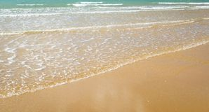 Beach Shoreline Background. Summer sunlight on beach shoreline background Stock Photos