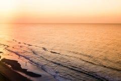 Beach Shoreline at Sunrise Royalty Free Stock Image