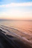 Beach Shoreline at Sunrise Stock Photography