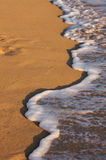 Beach Shoreline Wash Royalty Free Stock Photo