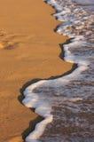 Beach Shoreline Wash. Beach Shoreline in the Early Morning Sun Royalty Free Stock Photo