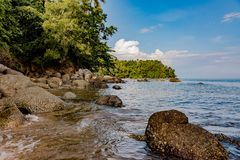Beach on the shores of the Adaman sea, Nature. Phuket, Thailand. stock images