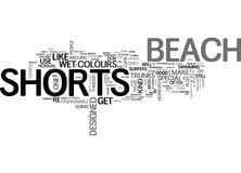 Beach Shorts Explained Word Cloud Stock Image
