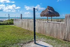 Beach shower in Clearwater stock photography