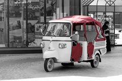 Beach shuttle tricycle motorcycle taxi Royalty Free Stock Images