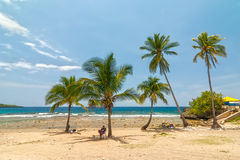 Beach Siboney 19km from Santiago de Cuba Stock Photo