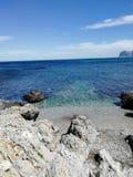 Beach in Sicily. Palermo stock image