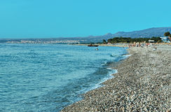 Beach In Sicily Royalty Free Stock Images