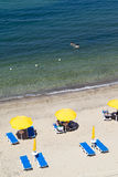 Beach sicily Stock Images