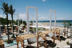 Beach side bar. A bar located at Kuda beach side in Bali Royalty Free Stock Image