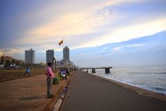 Beach side beside a capital city.Colombo,Sri Lanka