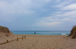 Beach side entrance. In A Coruña, Spain Stock Photography
