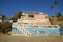 Beach side home near Saint Anns Beach, Laguna Beach, California. Royalty Free Stock Photography
