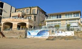 Beach side homes on Thalia Street Beach in Laguna Beach, California. Stock Images