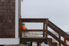 Beach side shed Stock Photos