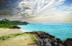 Beach side Sri Lanka in the evening Royalty Free Stock Image