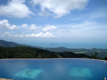 Beach side swimming pool at resort. Thailand Royalty Free Stock Images