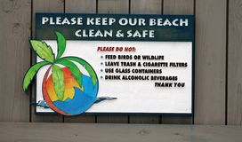 Beach Sign Stock Photography