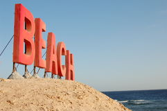 Beach sign Royalty Free Stock Images