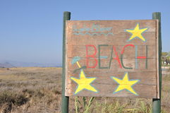 Beach sign Stock Image