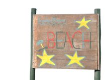 Beach sign Royalty Free Stock Photo
