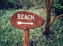 Beach Sign Stock Photography