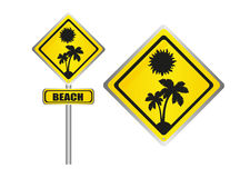 Beach sign Stock Photos