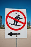 Beach sign Royalty Free Stock Photography