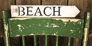 Beach sign Royalty Free Stock Image