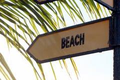 Beach Sign Royalty Free Stock Photos