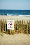 Beach sign Stock Images