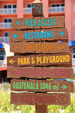 Beach Sign Directions Vertical Pink Royalty Free Stock Images
