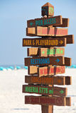 Beach Sign Directions Vertical Royalty Free Stock Photos